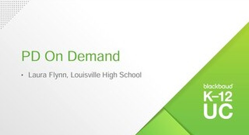 Leveraging onCampus for PD