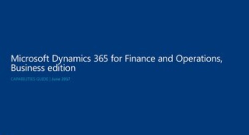 Microsoft Dynamics 365 Finance and Operations Business edition Capabilities guide