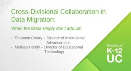 Cross-Divisional Collaboration in Data Migration: When the fields simply don't add up!