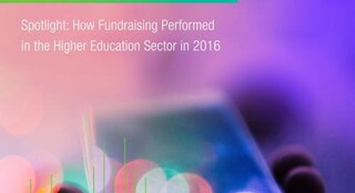 Higher Education Charitable Giving Report 2016