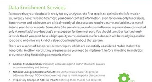 Target Analytics Data Enrichment Services Portfolio