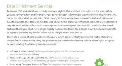 Blackbaud Target Analytics Data Enrichment Services