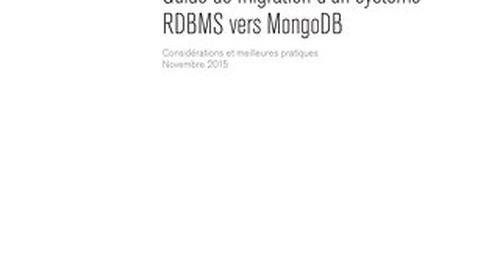 Guide de migration d'un système RDBMS vers MongoDB