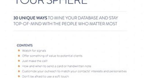 30 Unique Ways to Mine Your Database