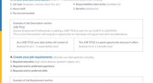 Job Posting Checklist