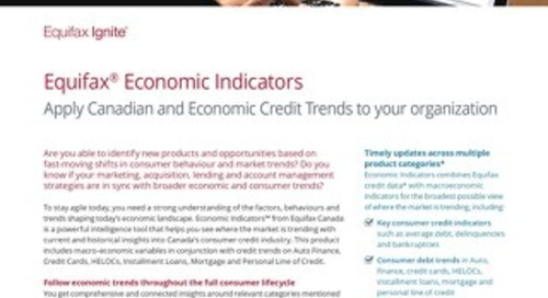 Economic Indicators Product Sheet