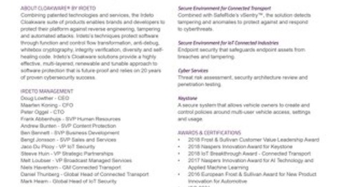 Connected Industries Fact Sheet