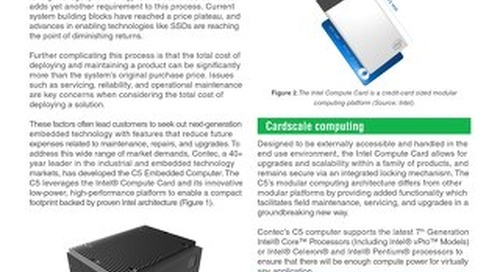 Contec's C5™ embedded computer leverages Intel® technology to bring flexibility to Industrial IoT