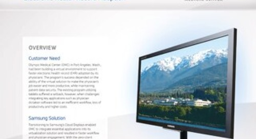 Samsung Zero Client Case Study - Olympic Med Center