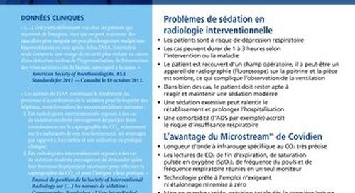 Capnographie et sédation interventionnelle en radiologie interventionnelle