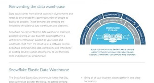 Snowflake Elastic Data Warehouse
