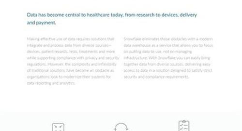 Enabling Data-Driven Healthcare