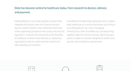 Enabling Data-Driven Healthcare