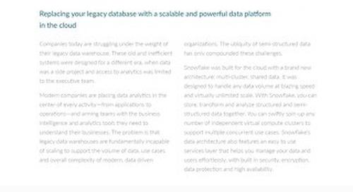 A Blueprint for the Modern Data Warehouse