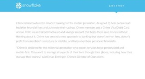 Chime: Using Snowflake to create personalized experiences for mobile app users