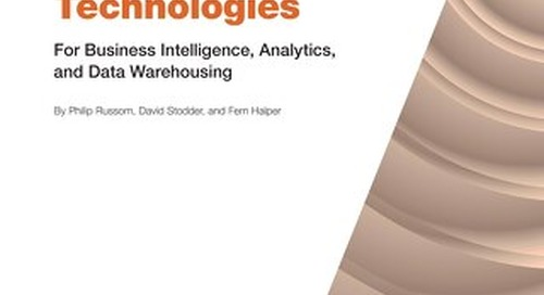 TDWI Best Practices Report: Emerging Technologies for Business Intelligence, Analytics and Data Warehousing