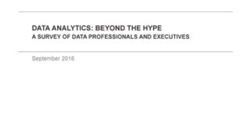 Data Analytics: Beyond the Hype - A Survey by Dimensional Research