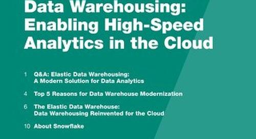 Demystifying Elastic Data Warehousing: Enabling High-Speed Analytics in the Cloud