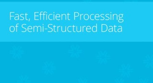 Efficient Processing of Semi-Structured Data