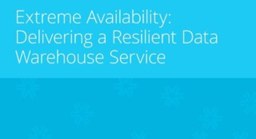 Extreme Availability: Delivering a Resilient Data Warehouse Service
