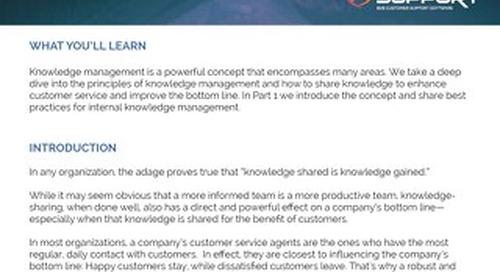 Knowledge Management Part 1