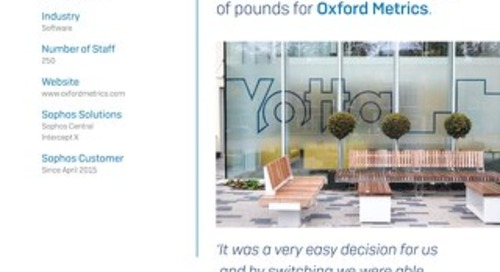 [Case study] Sophos Central saves thousands of pounds for Oxford Metrics.