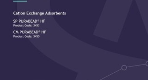 Cation Exchange Adsorbents - Technical User Guide