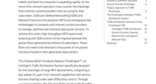 Intelligent Traffic Distribution Systems