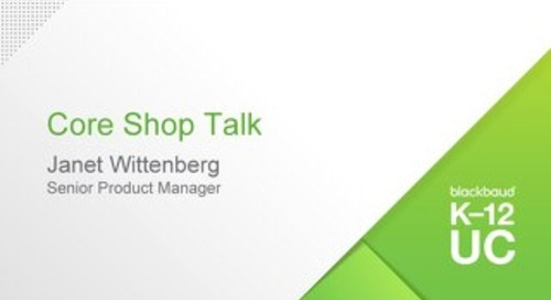 Core Shop Talk