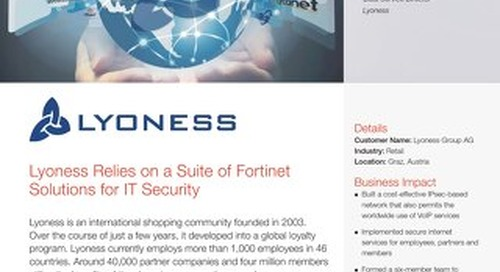 Lyoness Relies on a Suite of Fortinet Solutions for IT Security