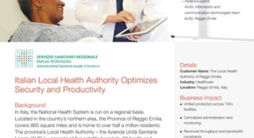 Italian Local Health Authority Optimizes Security and Productivity