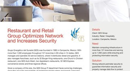 Restaurant and Retail Group Optimizes Network and Increases Security