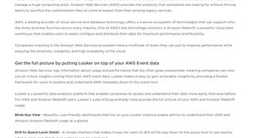 Optimize AWS & Amazon Redshift with Looker Blocks