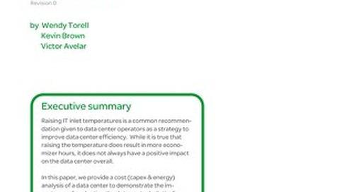 WP 221 - The Unexpected Impact of Raising Data Center Temperatures