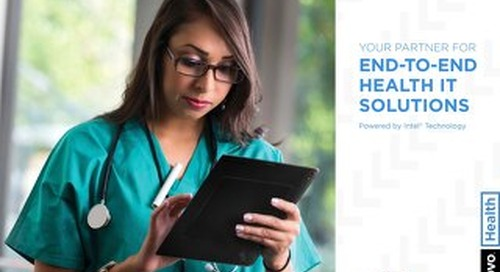 Your Partner For End-To-End Health It Solutions
