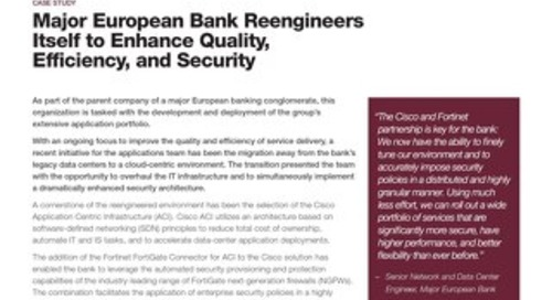 Major European Bank Re-engineers Itself