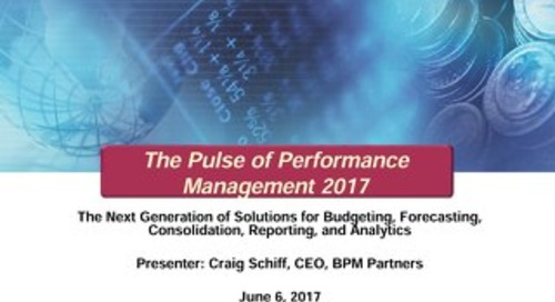 BPM Pulse of Performance Management Survey Results - 2017