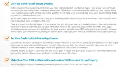 Cheatsheet: Getting Ready for Marketing Attribution