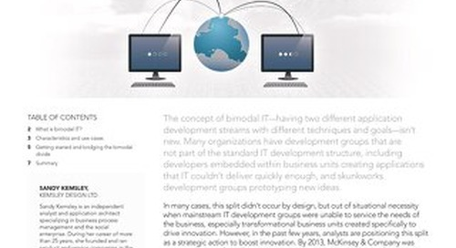 Bimodal IT: Bridging the Bimodal Divide