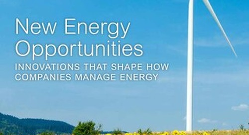 New Energy Opportunities: Innovations That Shape How Companies Manage Energy