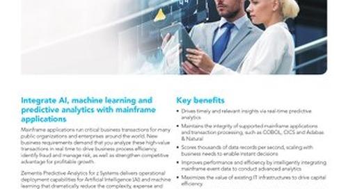 Predictive Analytics for z Systems®