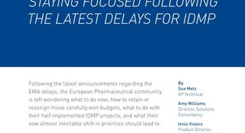 Staying Focused Following The Latest Delays For IDMP