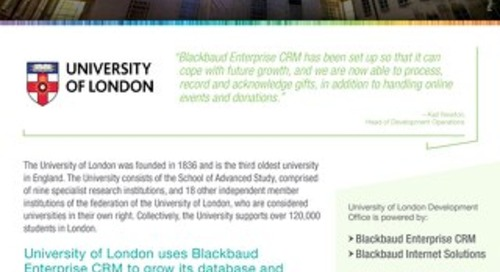 University Of London | Blackbaud CRM