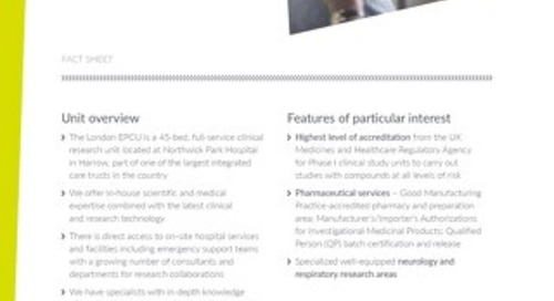 London EPCU Fact Sheet