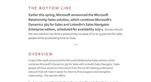 Microsoft Lays Out LinkedIn CRM Strategy