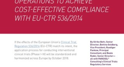 Cost Effective Compliance With EU-CTR 536/2014