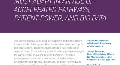 How Reg Affairs Must Adapt in an Age of Accelerated Pathways, Patient Power and Big Data