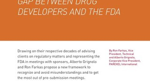 Closing The Communication Gap Between Developers and the FDA
