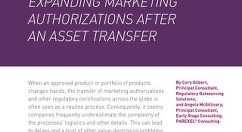 A Cure For Complexity: Expanding Marketing Authorizations After An Asset Transfer