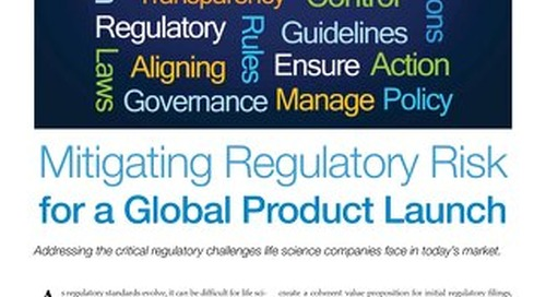 Mitigating Regulatory Risk For A Global Product Launch